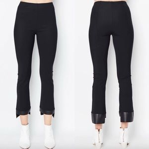 Elaine Kim Olga Cropped Flare Tech Pant Black XL